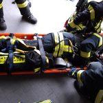 Übung der Atemschutz-Notfall-Trainierte-Staffel