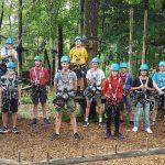 Jugendfeuerwehr im Kletterwald sportlich aktiv